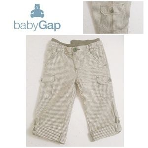 BABY GAP Gingham Pull-on Cargo Pant w/Roll Cuff